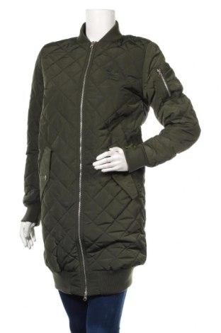 Дамско спортно яке Adidas, Размер XS, Цвят Зелен, Полиестер, Цена 126,75лв.