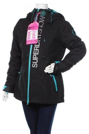 Дамско яке за зимни спортове Superdry, Размер L, Цвят Черен, 100% полиестер, Цена 201,75лв.