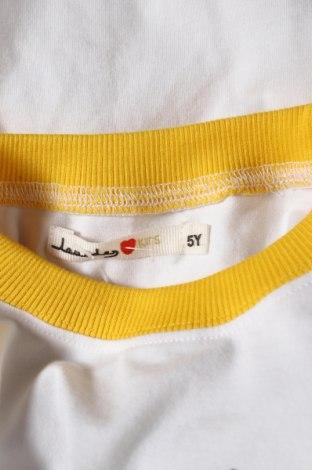 Детска блуза, Размер 4-5y/ 110-116 см, Цвят Бял, 95% памук, 5% еластан, Цена 19,60лв.