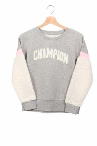 Детска блуза Champion, Размер 12-13y/ 158-164 см, Цвят Сив, 60% памук, 40% полиестер, Цена 18,43лв.