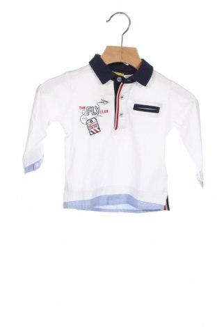 Детска блуза Chicco, Размер 6-9m/ 68-74 см, Цвят Бял, Памук, Цена 18,00лв.