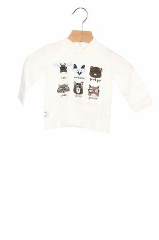 Детска блуза Chicco, Размер 3-6m/ 62-68 см, Цвят Бял, Памук, Цена 27,00лв.