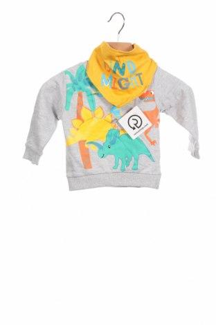 Детска блуза Crafted, Размер 6-9m/ 68-74 см, Цвят Сив, 94% памук, 6% полиестер, Цена 26,60лв.