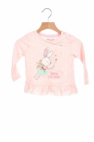 Детска блуза Crafted, Размер 9-12m/ 74-80 см, Цвят Розов, Памук, Цена 18,00лв.
