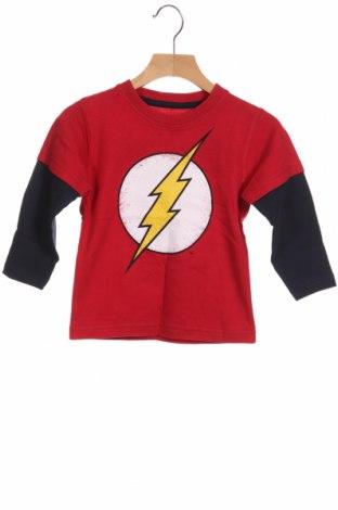Детска блуза Dc Comics, Размер 12-18m/ 80-86 см, Цвят Червен, Памук, Цена 21,75лв.