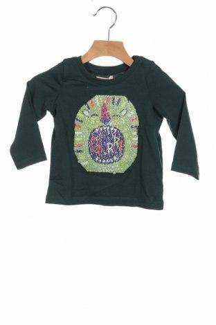 Детска блуза Du Pareil Au Meme, Размер 12-18m/ 80-86 см, Цвят Зелен, Памук, Цена 19,04лв.
