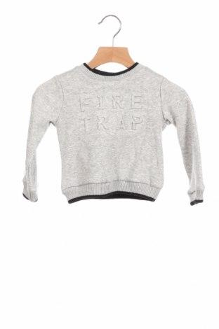Детска блуза Firetrap, Размер 9-12m/ 74-80 см, Цвят Сив, 68% полиестер, 29% памук, 3% еластан, Цена 36,00лв.