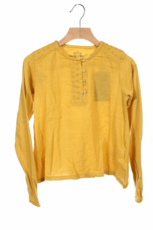 Детска блуза Gocco, Размер 9-10y/ 140-146 см, Цвят Жълт, Памук, Цена 24,50лв.