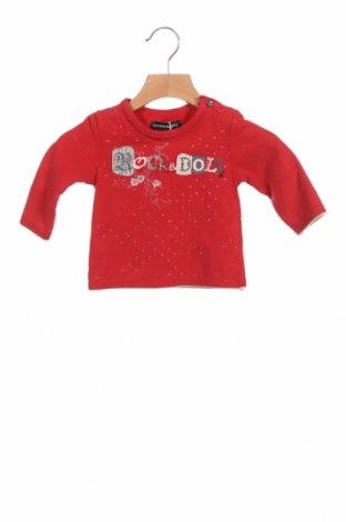 Детска блуза Jean Bourget, Размер 3-6m/ 62-68 см, Цвят Червен, 94% памук, 6% еластан, Цена 32,45лв.