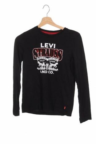 Детска блуза Levi's, Размер 11-12y/ 152-158 см, Цвят Черен, 100% памук, Цена 30,24лв.