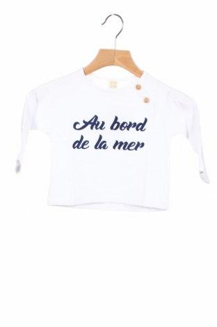 Детска блуза Little Celebs, Размер 9-12m/ 74-80 см, Цвят Бял, 96% памук, 4% еластан, Цена 24,48лв.