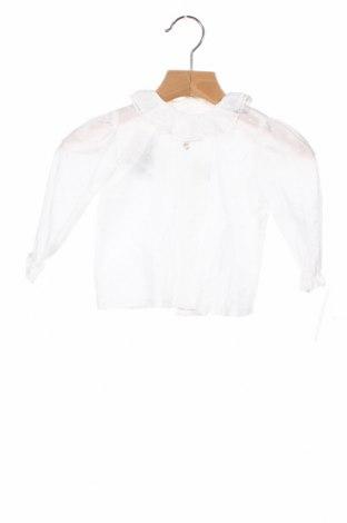Детска блуза Lola Palacios, Размер 9-12m/ 74-80 см, Цвят Бял, Памук, Цена 27,30лв.