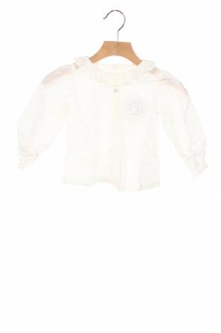 Детска блуза Lola Palacios, Размер 12-18m/ 80-86 см, Цвят Бял, Памук, Цена 27,30лв.
