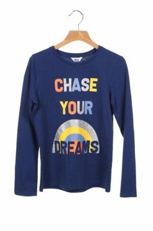 Детска блуза M&Co., Размер 8-9y/ 134-140 см, Цвят Син, Памук, Цена 22,80лв.