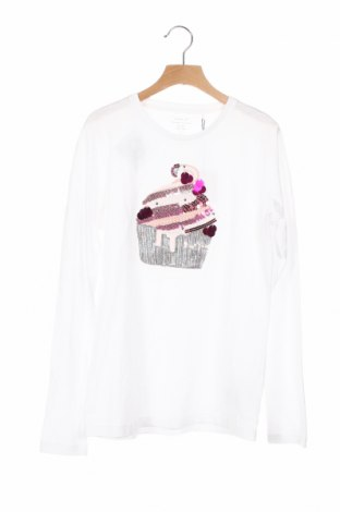 Детска блуза Name It, Размер 12-13y/ 158-164 см, Цвят Бял, Памук, Цена 19,50лв.