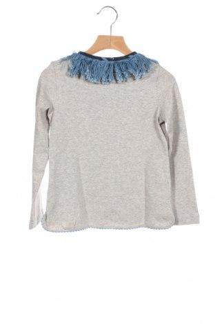 Детска блуза Nanos, Размер 7-8y/ 128-134 см, Цвят Сив, Памук, Цена 49,77лв.