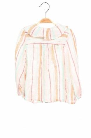 Детска блуза Nanos, Размер 3-4y/ 104-110 см, Цвят Многоцветен, 55% лен, 23% памук, 22% полиестер, Цена 55,30лв.