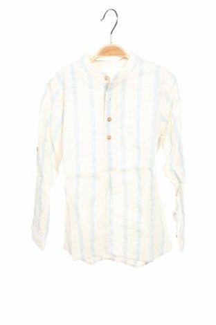Детска блуза Pili Carrera, Размер 5-6y/ 116-122 см, Цвят Бежов, 70% памук, 20% лен, 10% полиестер, Цена 34,50лв.