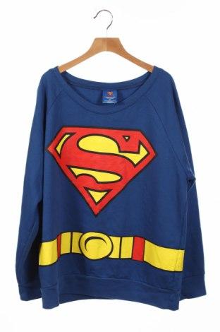 Детска блуза Superman, Размер 15-18y/ 170-176 см, Цвят Син, 60% памук, 40% полиестер, Цена 6,04лв.