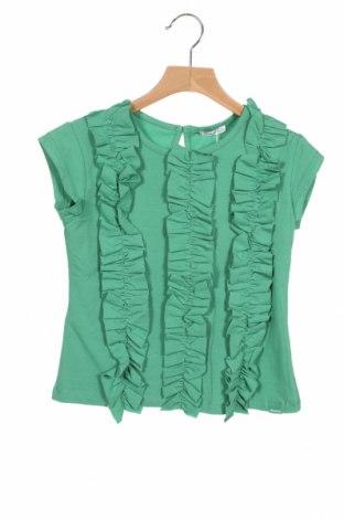 Детска блуза Tutto Piccolo, Размер 6-7y/ 122-128 см, Цвят Зелен, 95% памук, 5% еластан, Цена 11,22лв.
