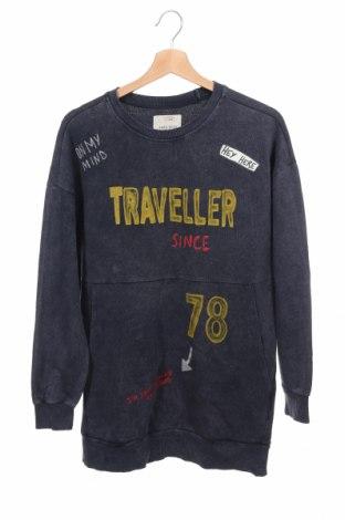Детска блуза Zara, Размер 13-14y/ 164-168 см, Цвят Син, Памук, Цена 13,86лв.