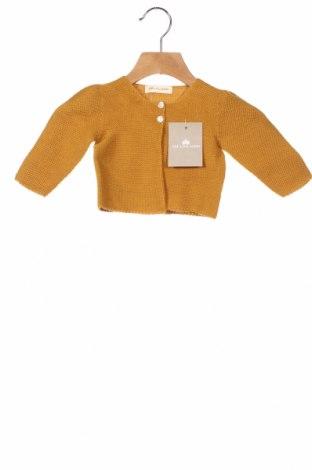 Παιδική ζακέτα Lola Palacios, Μέγεθος 9-12m/ 74-80 εκ., Χρώμα Κίτρινο, Άλλα υλικά, Τιμή 25,26€