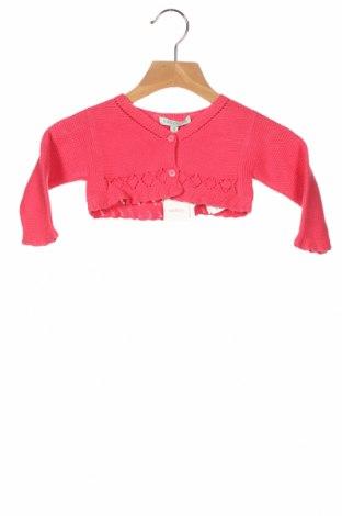 Детска жилетка Nanos, Размер 6-9m/ 68-74 см, Цвят Розов, 70% памук, 30% вискоза, Цена 26,22лв.