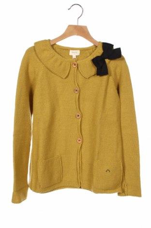 Παιδική ζακέτα Nanos, Μέγεθος 13-14y/ 164-168 εκ., Χρώμα Κίτρινο, 35% μαλλί, 30% πολυαμίδη, 5% κασμίρι, Τιμή 56,19€