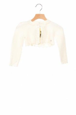 Детска жилетка Pili Carrera, Размер 18-24m/ 86-98 см, Цвят Екрю, 80% памук, 20% вълна, Цена 16,52лв.