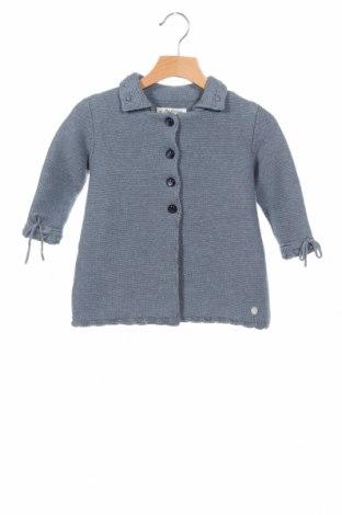 Παιδική ζακέτα Pili Carrera, Μέγεθος 12-18m/ 80-86 εκ., Χρώμα Μπλέ, 80% βαμβάκι, 20% μαλλί, Τιμή 45,88€