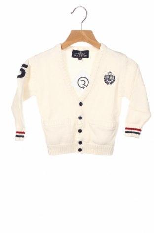 Παιδική ζακέτα Polo Club, Μέγεθος 9-12m/ 74-80 εκ., Χρώμα Εκρού, 100% βαμβάκι, Τιμή 22,68€