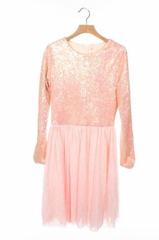 Детска рокля Billieblush, Размер 9-10y/ 140-146 см, Цвят Розов, Полиестер, Цена 26,00лв.