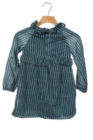 Детска рокля Gocco, Размер 3-4y/ 104-110 см, Цвят Син, 94% памук, 4% полиестер, 2% еластан, Цена 27,72лв.