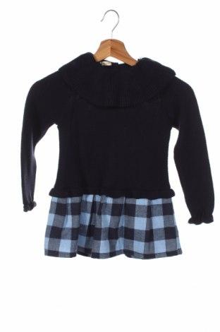 Детска рокля Little Celebs, Размер 4-5y/ 110-116 см, Цвят Син, 70% памук, 30% полиестер, Цена 36,75лв.