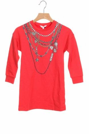 Детска рокля Little Marc Jacobs, Размер 3-4y/ 104-110 см, Цвят Червен, 63% памук, 34% вискоза, 3% еластан, Цена 103,35лв.