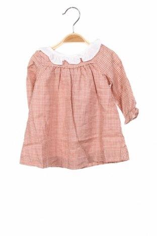 Детска рокля Lola Palacios, Размер 3-6m/ 62-68 см, Цвят Розов, 97% памук, 3% вискоза, Цена 40,12лв.