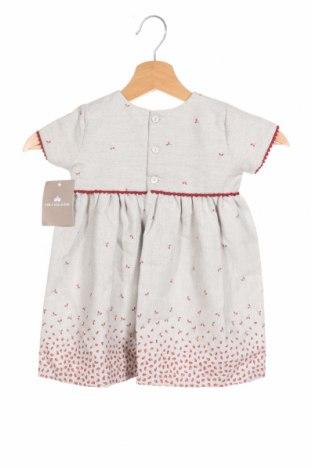 Детска рокля Lola Palacios, Размер 18-24m/ 86-98 см, Цвят Сив, 50% памук, 50% полиестер, Цена 29,50лв.