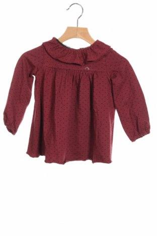 Детска рокля Nanos, Размер 2-3y/ 98-104 см, Цвят Червен, 95% памук, 5% еластан, Цена 48,95лв.