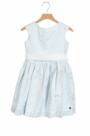 Детска рокля Pili Carrera, Размер 3-4y/ 104-110 см, Цвят Син, 53% полиестер, 27% памук, 14% акрил, 6% метални нишки, Цена 76,30лв.
