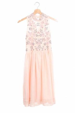 Детска рокля River Island, Размер 11-12y/ 152-158 см, Цвят Розов, 100% полиестер, Цена 34,50лв.