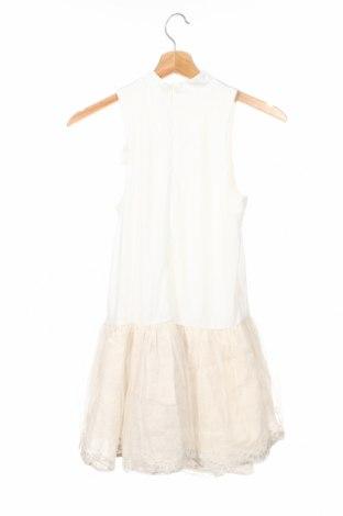 Детска рокля Tutto Piccolo, Размер 11-12y/ 152-158 см, Цвят Екрю, Полиестер, лен, памук, Цена 32,76лв.