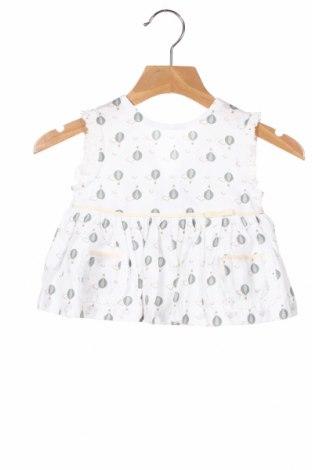 Детска рокля Tutto Piccolo, Размер 9-12m/ 74-80 см, Цвят Бял, Памук, Цена 16,17лв.