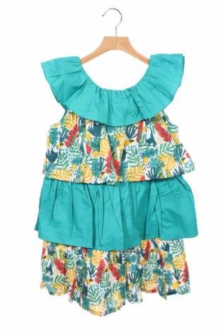 Детска рокля Tutto Piccolo, Размер 9-10y/ 140-146 см, Цвят Зелен, 100% памук, Цена 16,17лв.