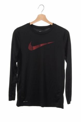 Детска спортна блуза Nike, Размер 14-15y/ 168-170 см, Цвят Черен, Полиестер, Цена 17,64лв.