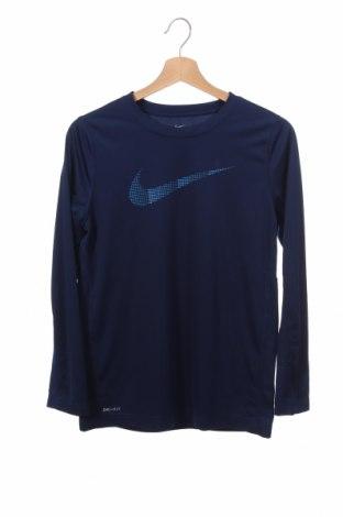Детска спортна блуза Nike, Размер 14-15y/ 168-170 см, Цвят Син, Полиестер, Цена 13,86лв.