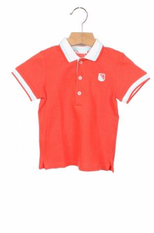 Детска тениска Tutto Piccolo, Размер 18-24m/ 86-98 см, Цвят Червен, Памук, Цена 10,56лв.