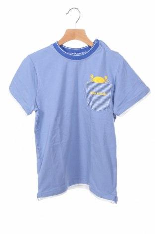 Детска тениска Tutto Piccolo, Размер 11-12y/ 152-158 см, Цвят Син, 95% памук, 5% еластан, Цена 14,00лв.