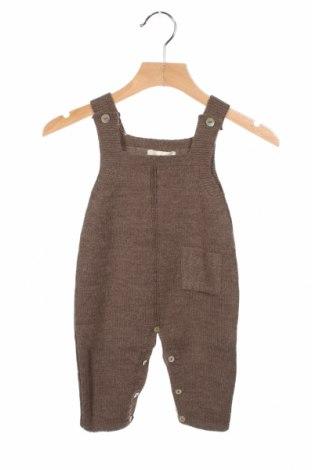 Dziecięcy kombinezon Bonnet A Pompon, Rozmiar 9-12m/ 74-80 cm, Kolor Brązowy, 50% wełna, 50%akryl, Cena 115,00zł