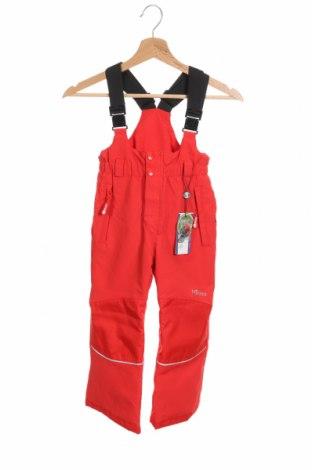 Детски гащеризон за зимни спортове Trollkids, Размер 5-6y/ 116-122 см, Цвят Червен, Полиестер, Цена 39,60лв.