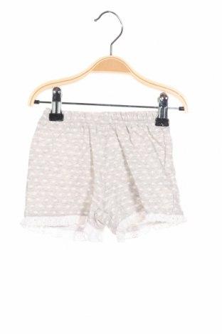 Детски къс панталон Tutto Piccolo, Размер 9-12m/ 74-80 см, Цвят Сив, Памук, Цена 12,87лв.